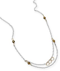 Two Tone Sandie Necklace 925 Sterling Silver