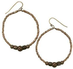 Perfect Circle Brass Earrings