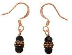 Peppercorn Czech Glass Copper Earrings
