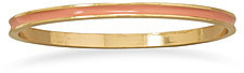 Thin Peach Enamel Fashion Bangle Bracelet - LIMITED STOCK