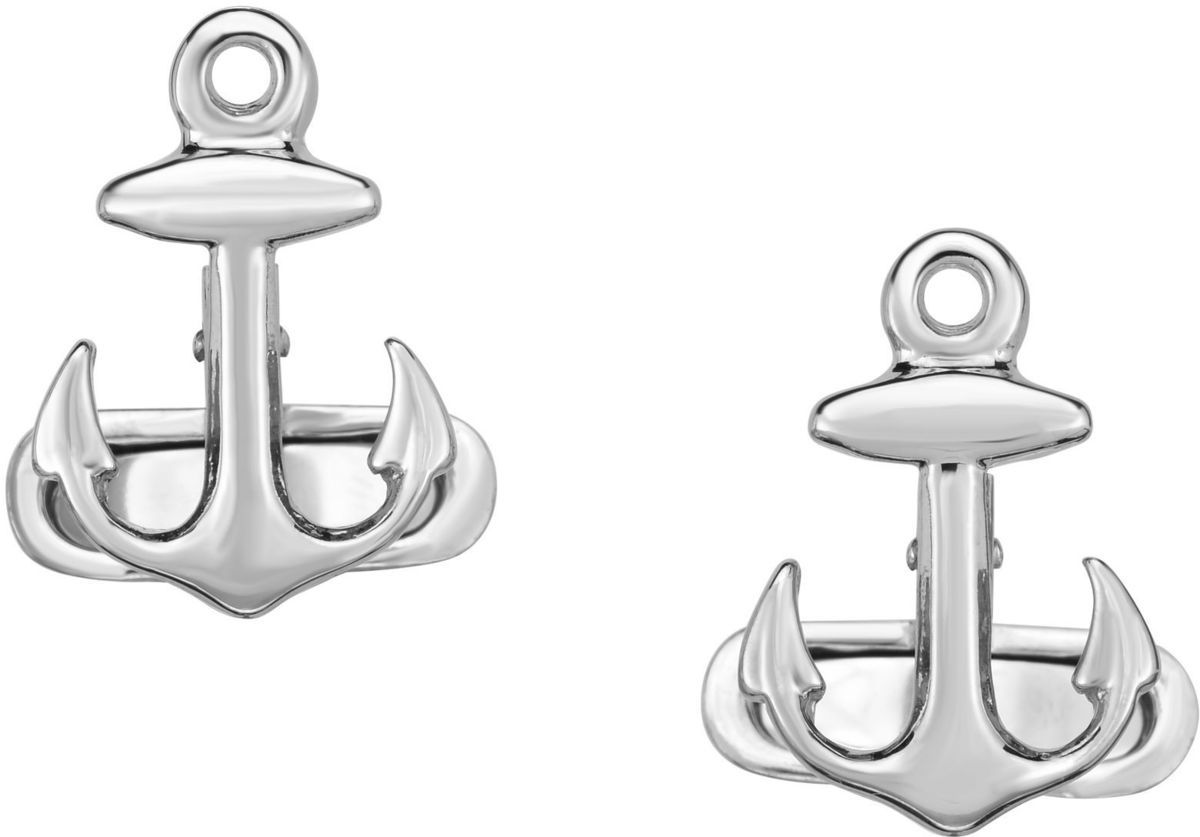 Phillip Gavriel - Sterling Silver 14x20mm Anchor Sailing Cuff Links