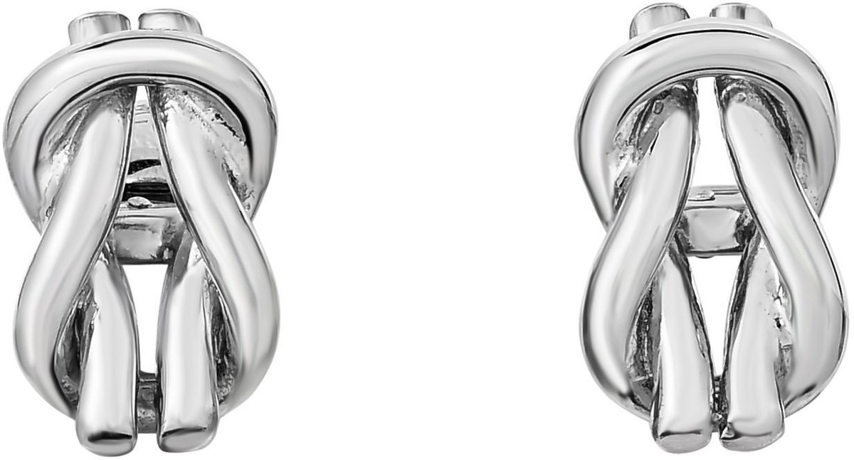 Phillip Gavriel - 20x12mm Rhodium Plated Sterling Silver Looped Knot Shaped Cuff Links