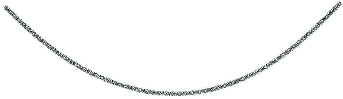 "Phillip Gavriel - 3.5mm Sterling Silver Rhodium Finish 16"" Popcorn Necklace with Lobster Clasp"