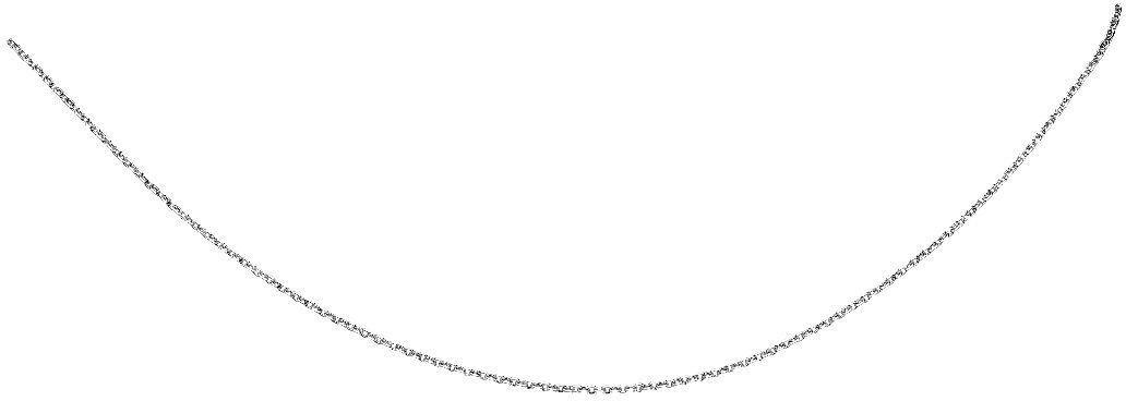 "Phillip Gavriel - 1.9mm Sterling Silver Rhodium Finish 16"" Classic Diamond Cut Cable Link Necklace with Lobster Clasp"