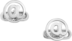 Phillip Gavriel - Sterling Silver 17x23mm @ Symbol Cuff Links