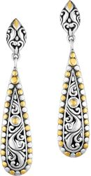 Phillip Gavriel - 18K Yellow Gold & Oxidized Sterling Silver Teardrop Earrings