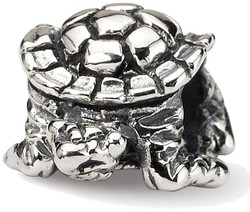 Sterling Silver Reflections Turtle Bead QRS1179