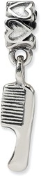 Sterling Silver Reflections Kids Comb Dangle Bead