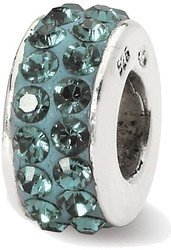Sterling Silver Reflections Dec Double Row Swarovski Crystal Bead