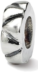 Sterling Silver Reflections Notched Spacer Bead QRS130