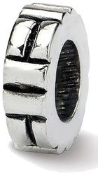 Sterling Silver Reflections Notched Spacer Bead QRS133