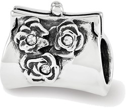 Sterling Silver Reflections Swarovski Crystal Clutch Bead