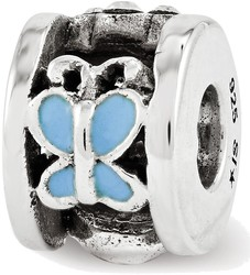 Sterling Silver Reflections Enamel Swarovski Ladybug Kids Bead