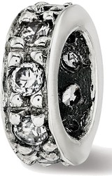Sterling Silver Reflections CZ Spacer Bead