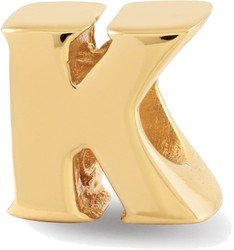 Sterling Silver Gold-plated Reflections Letter K Bead