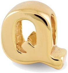 Sterling Silver Gold-plated Reflections Letter Q Bead