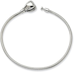 5.5 Sterling Silver 14cm Reflections Kids Hinged Clasp Bracelet