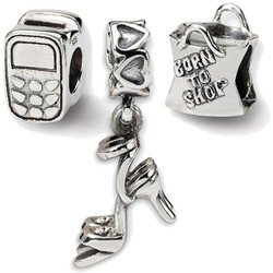 Sterling Silver Reflections Stylish Girl Boxed Bead Set