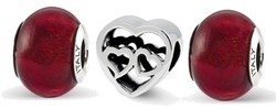 Sterling Silver Reflections Loves Reflection Boxed Bead Set