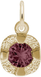Petite Simulated Birthstone - June Charm (Choose Metal) by Rembrandt