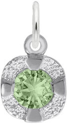 Petite Simulated Birthstone - August Charm (Choose Metal) by Rembrandt