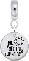 Sterling Silver You Are My Sunshine CharmDrop Bead Charm by Rembrandt