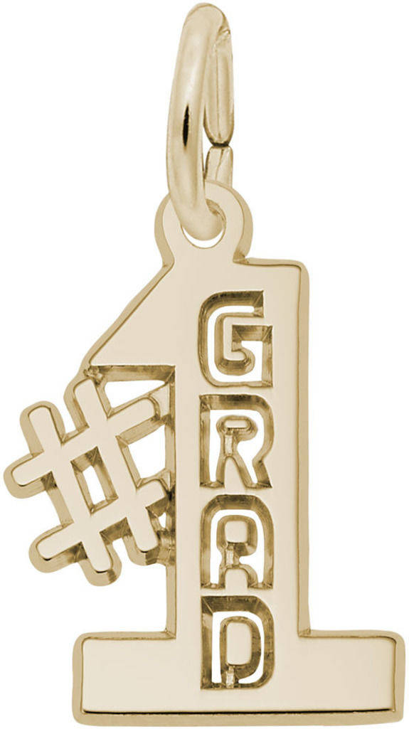 #1 Grad Charm (Choose Metal) by Rembrandt