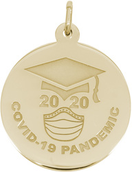 COVID-19 Class of 2020 Graduation Charm (Choose Metal) by Rembrandt