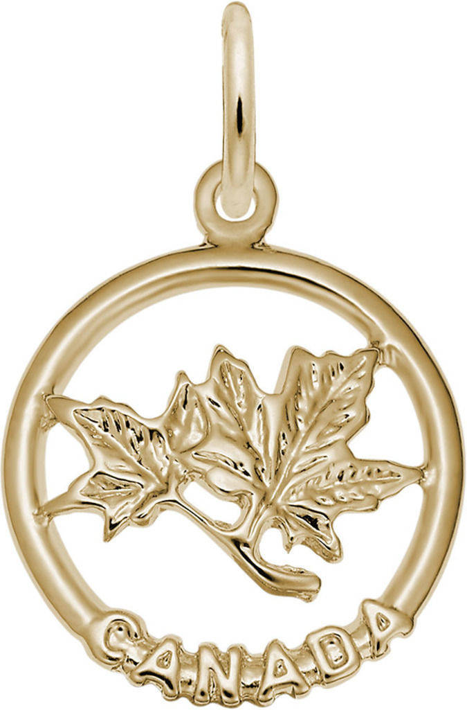 Canada Maple Leaf Ring Charm (Choose Metal) by Rembrandt