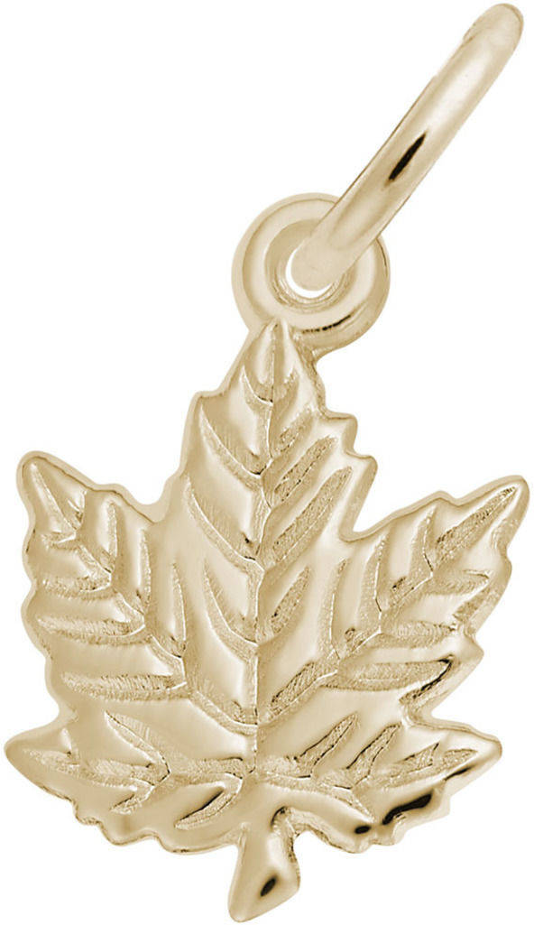 Classic Maple Leaf Charm (Choose Metal) by Rembrandt