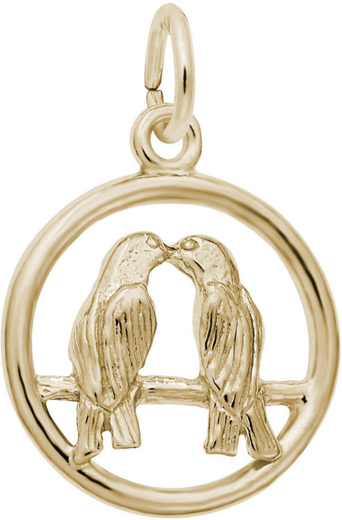 Love Birds Charm (Choose Metal) by Rembrandt