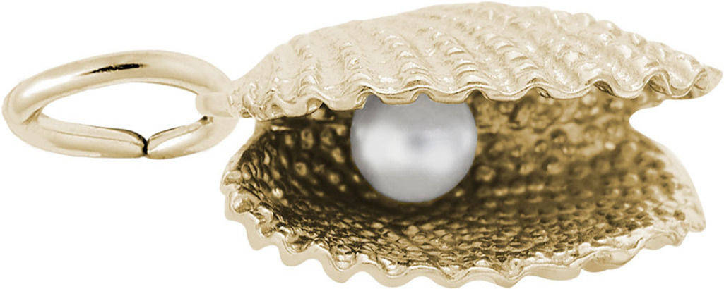 Oyster w/ Simulated Pearl Charm (Choose Metal) by Rembrandt