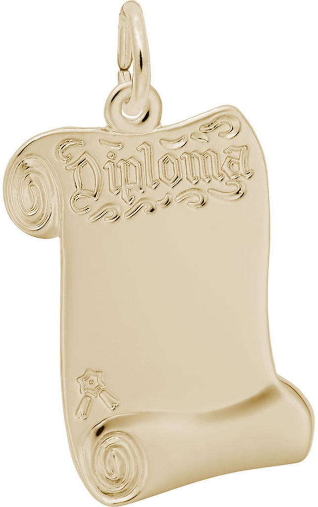 Blank Opened Diploma Charm (Choose Metal) by Rembrandt