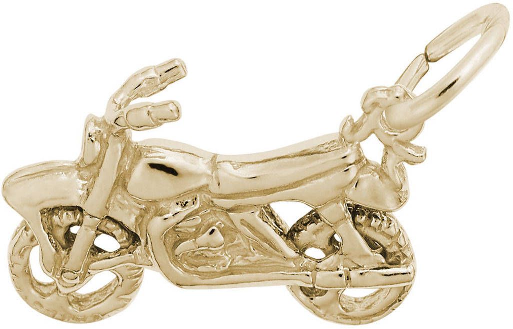 Dirt Bike Charm (Choose Metal) by Rembrandt