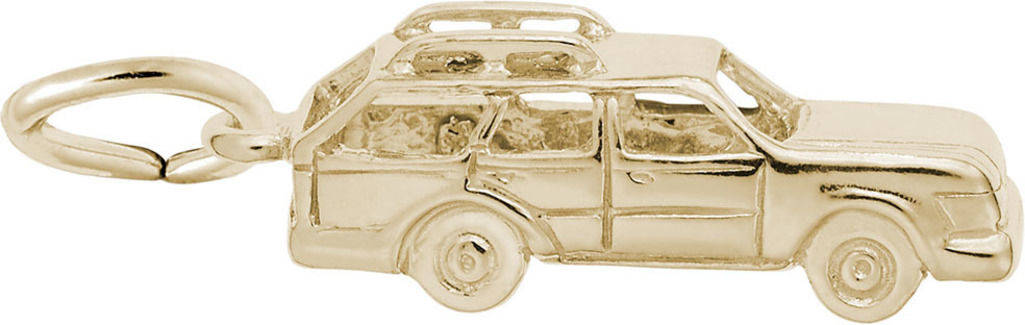 Station Wagon Charm (Choose Metal) by Rembrandt