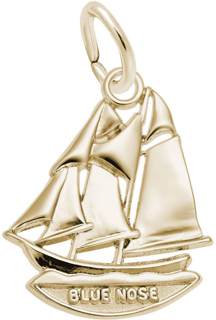 Blue Nose Nova Scotia Ship Charm (Choose Metal) by Rembrandt