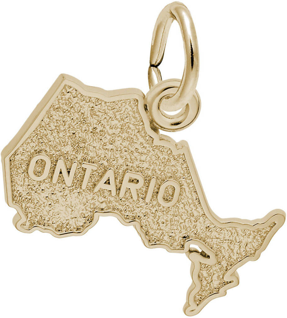 Ontario Map Charm (Choose Metal) by Rembrandt