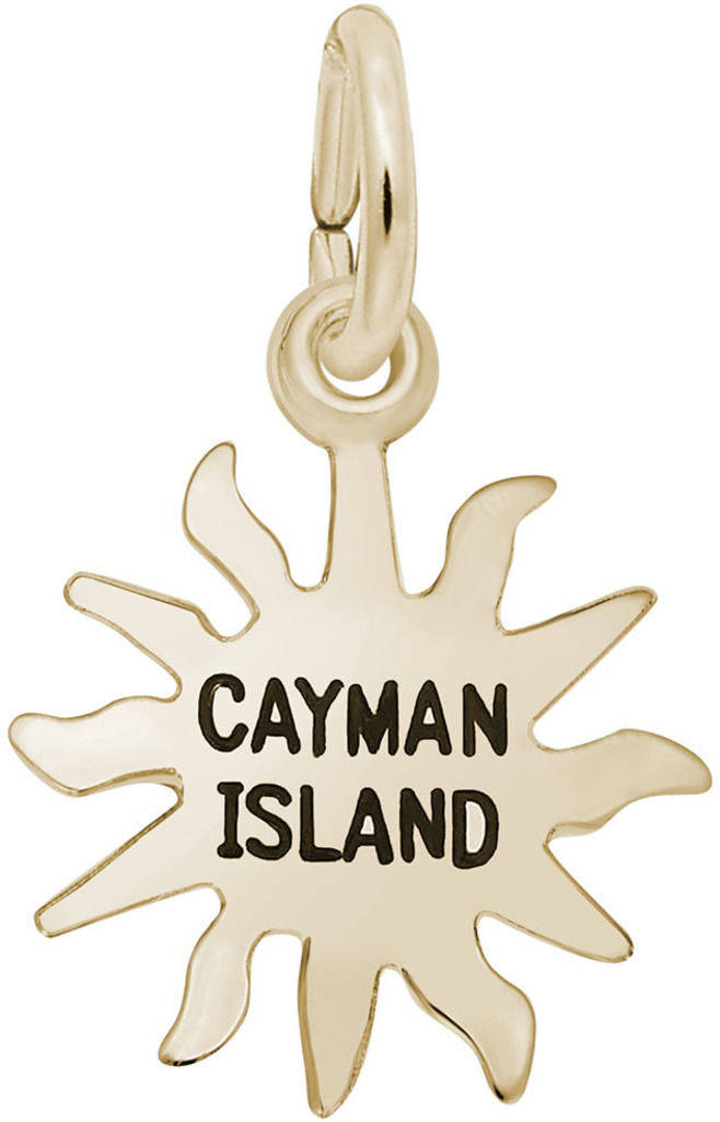 Cayman Island Sun Charm (Choose Metal) by Rembrandt