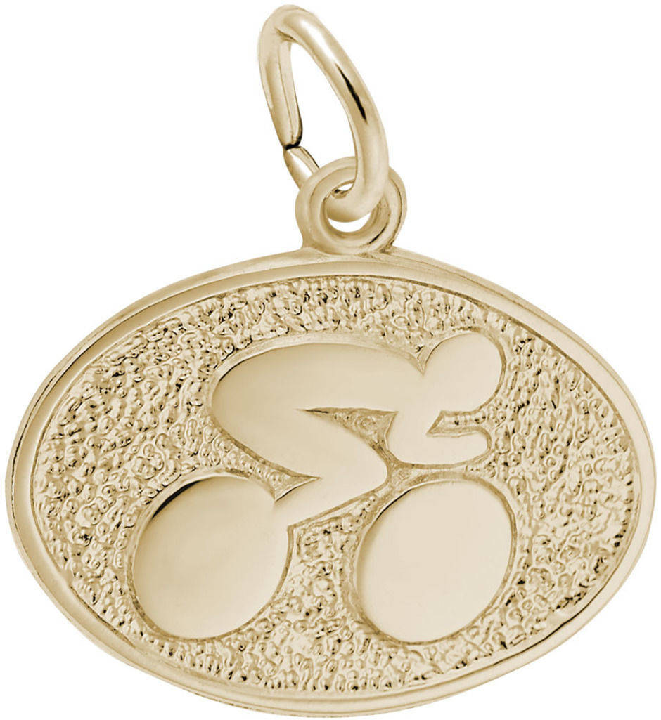 Cyclist Oval Charm (Choose Metal) by Rembrandt