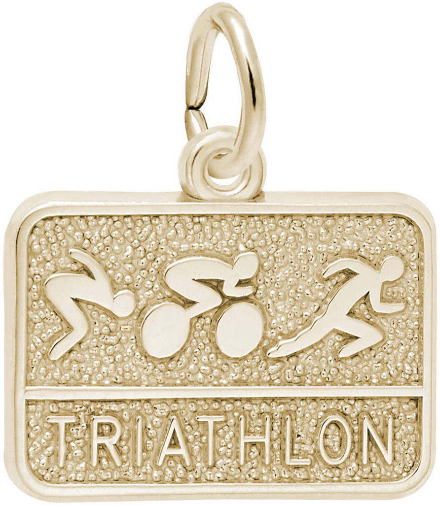 Triathlon Charm (Choose Metal) by Rembrandt