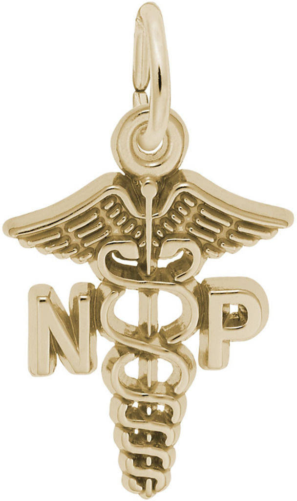 Nurse Practitioner Charm (Choose Metal) by Rembrandt