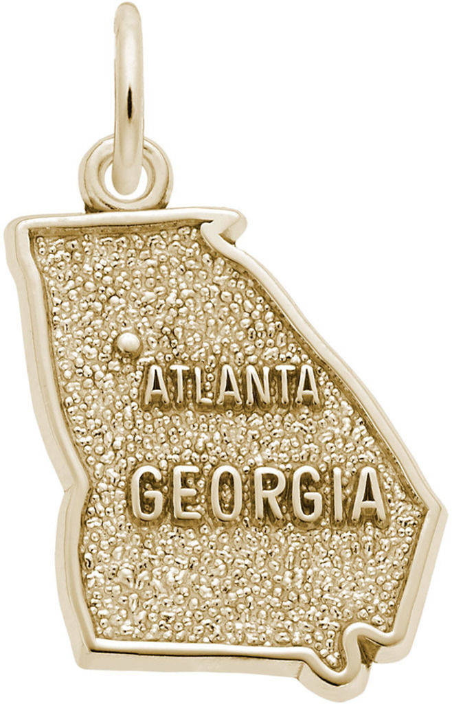 Atlanta Georgia Map Charm (Choose Metal) by Rembrandt