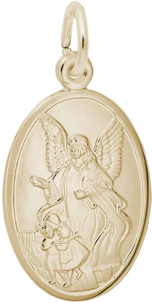 Guardian Angel Oval Charm (Choose Metal) by Rembrandt