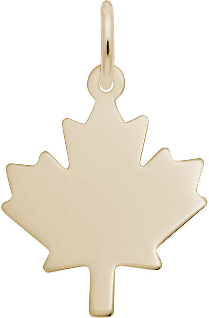 Flat Maple Leaf Charm (Choose Metal) by Rembrandt