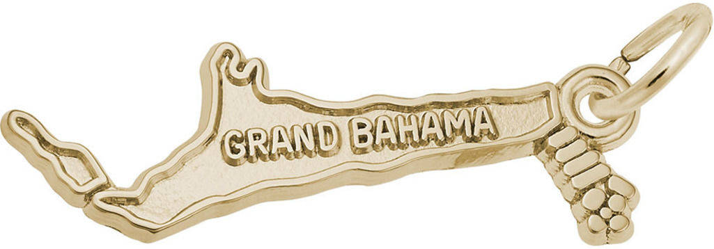 Grand Bahama Map Charm (Choose Metal) by Rembrandt