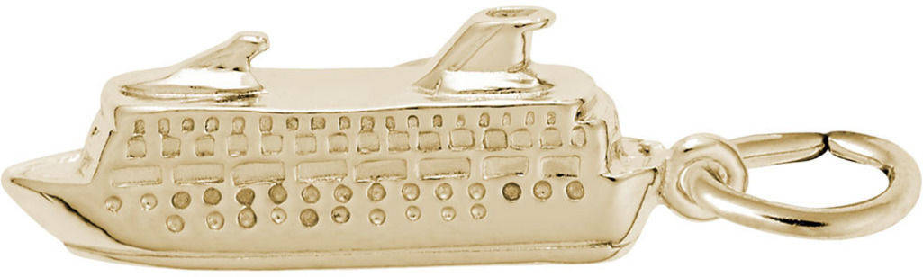 Cruise Ship Charm (Choose Metal) by Rembrandt