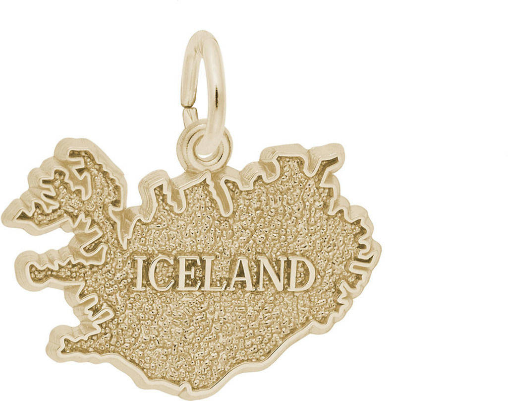 Iceland Map Charm (Choose Metal) by Rembrandt