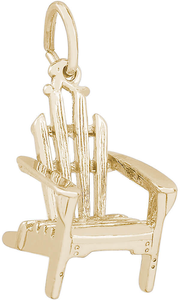 Adirondack Chair Charm (Choose Metal) by Rembrandt