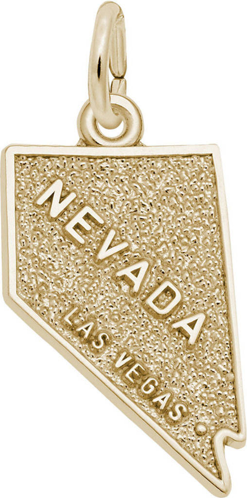 Las Vegas Nevada Map Charm (Choose Metal) by Rembrandt