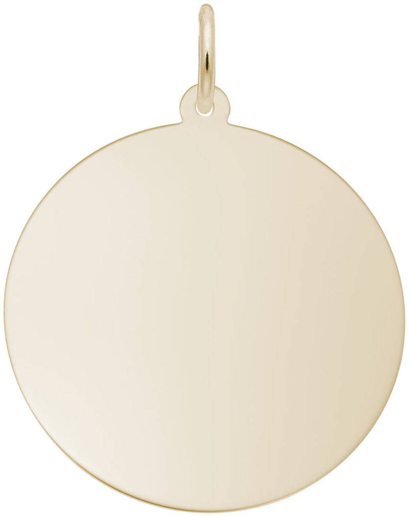 Double Extra Large Round Charm (Choose Metal) by Rembrandt